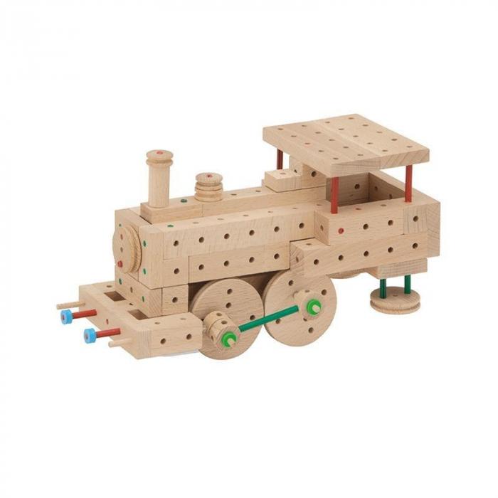 Set cuburi de constructie din lemn Explorer 300, +5 ani, Matador [5]