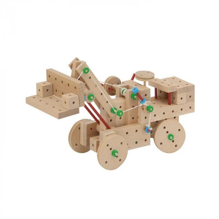 Set cuburi de constructie din lemn Explorer 300, +5 ani, Matador [4]