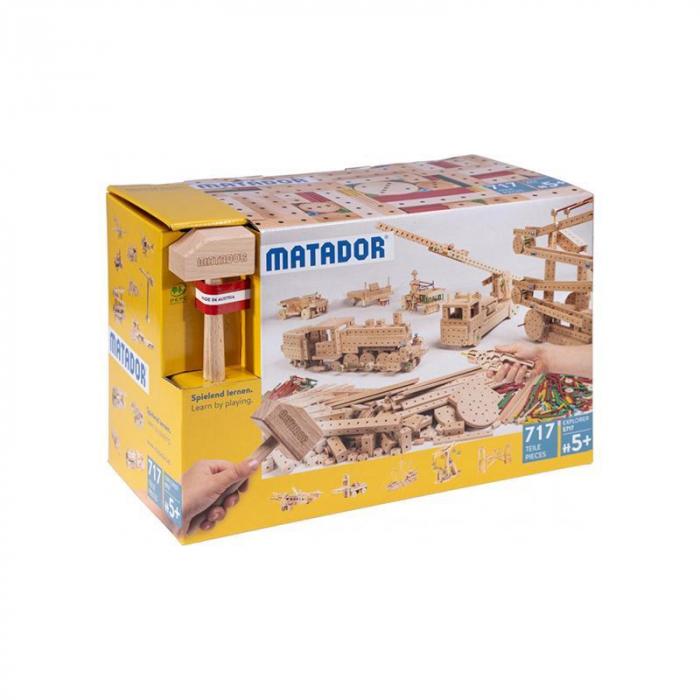 Set cuburi de constructie din lemn Explorer 717 piese, +5 ani, Matador [0]