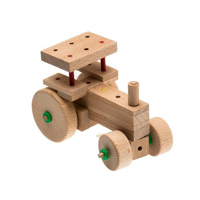 Set cuburi de constructie din lemn Explorer World Country, +5 ani, Matador [5]