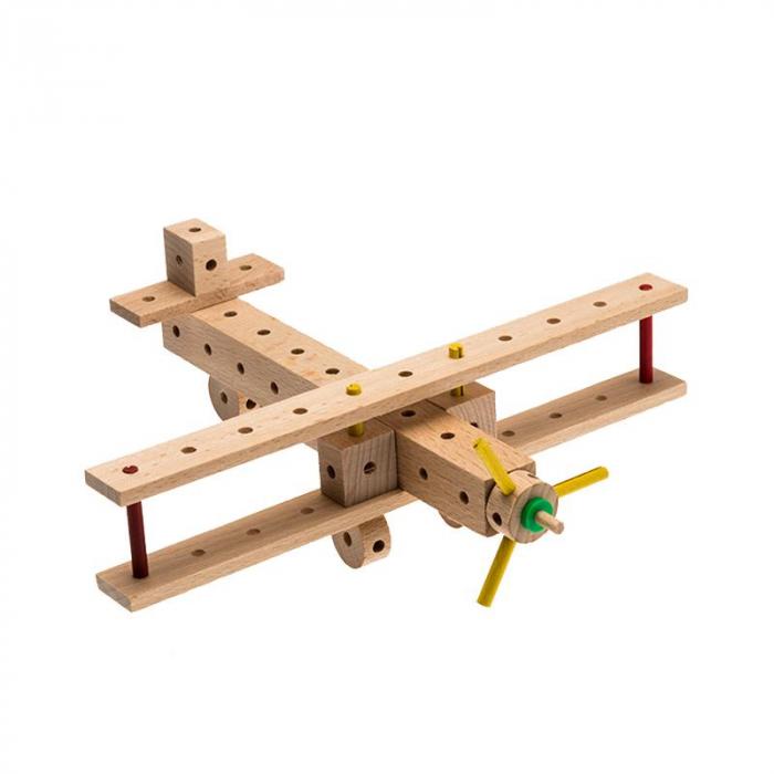 Set cuburi de constructie din lemn Explorer World Planes, +5 ani, Matador [1]
