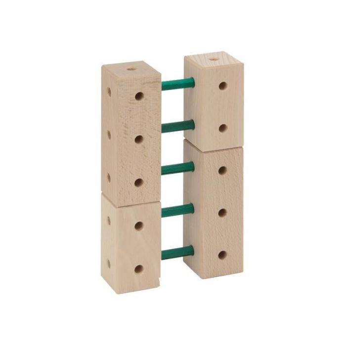 Set cuburi de constructie din lemn Maker 108 piese, +3 ani, Matador [3]