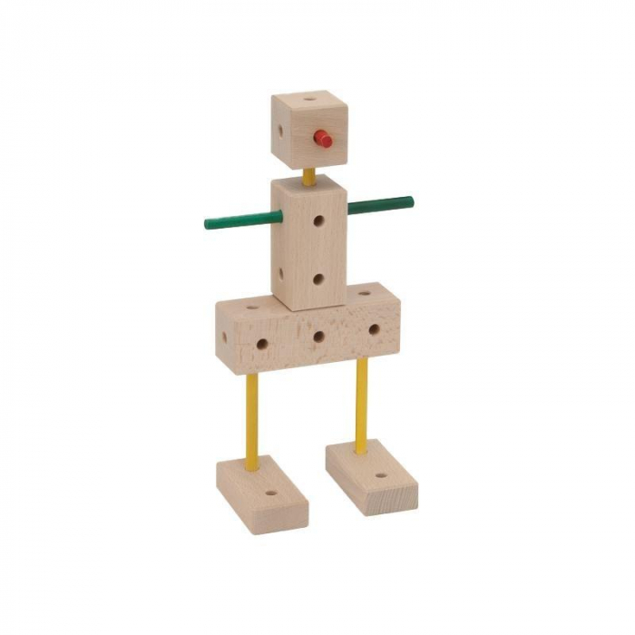 Set cuburi de constructie din lemn Maker 108 piese, +3 ani, Matador [6]