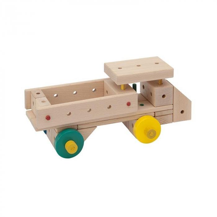 Set cuburi de constructie din lemn Maker 400, +3 ani, Matador [5]