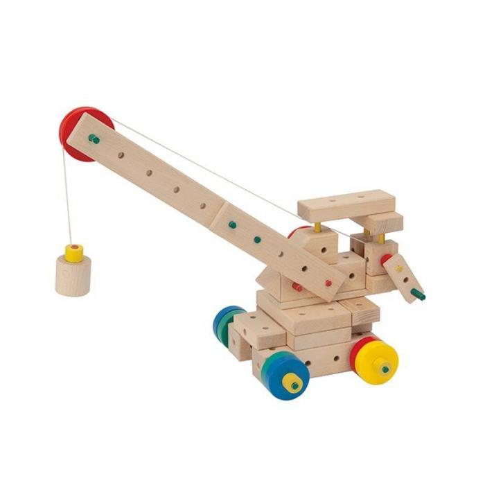 Set cuburi de constructie din lemn Maker 400, +3 ani, Matador [4]