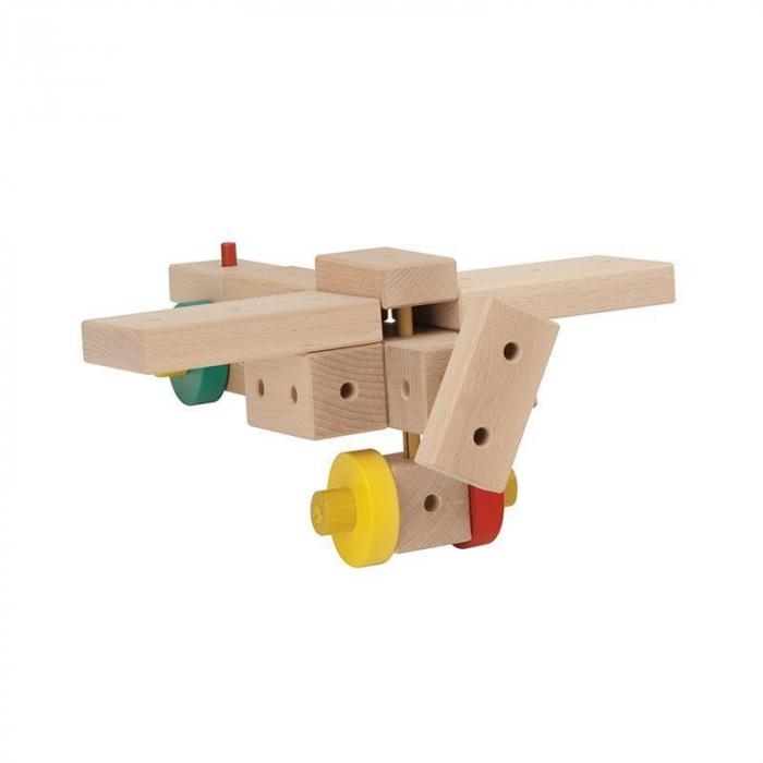 Set cuburi de constructie din lemn Maker XL, +3 ani, Matador [5]