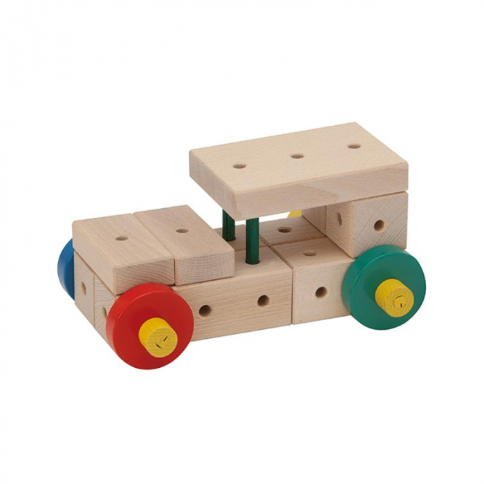 Set cuburi de constructie din lemn Maker XL, +3 ani, Matador [1]