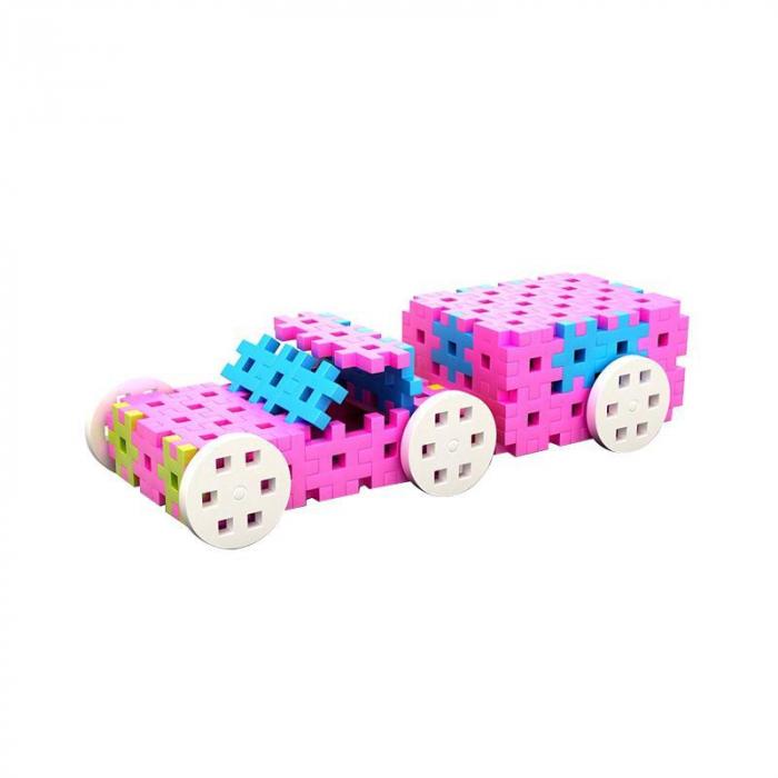 Set de constructie creativa Constructor Pink 600 piese, Meli [3]
