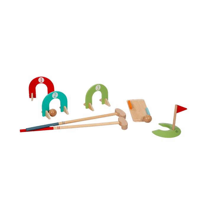 Set mini golf din lemn, 3+ FSC MAMAMEMO [2]