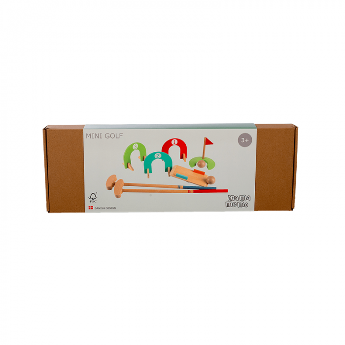 Set mini golf din lemn, 3+ FSC MAMAMEMO [4]