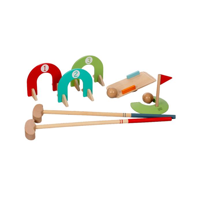 Set mini golf din lemn, 3+ FSC MAMAMEMO [0]