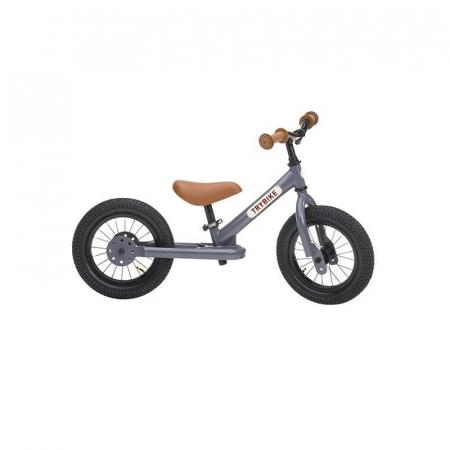 Bicicleta fara pedale 2 in 1 tricicleta copii, gri Trybike [1]
