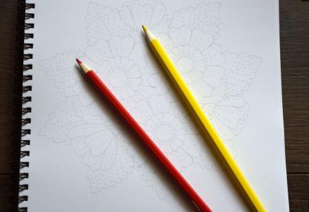 Desenează și Colorează Flori Antistres [2]