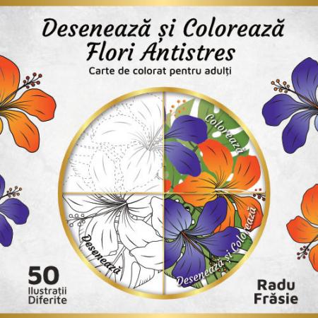Desenează și Colorează Flori Antistres [0]