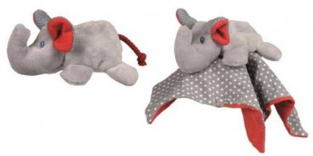 Jucarie din textil pentru bebe, elefant pop-up Egmont [0]