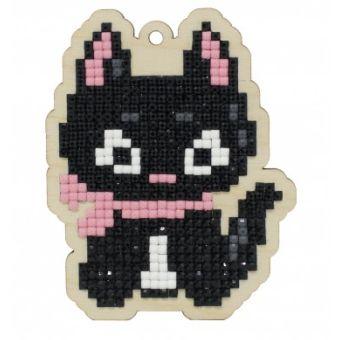Pictura diamante kit pisica cu papion [0]