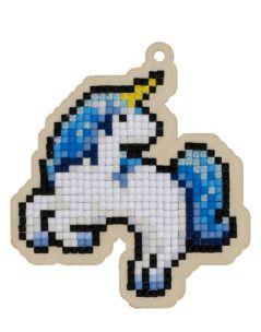 Pictura diamante kit unicornul albastru [0]