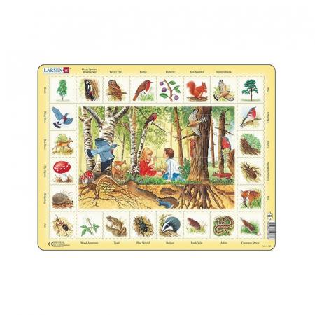 Puzzle maxi In padure, orientare tip vedere, 48 de piese, Larsen [0]