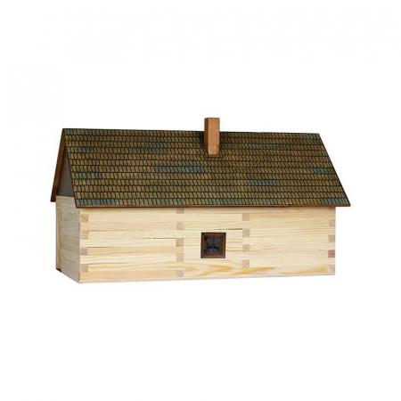 Set constructie arhitectura Casa de la tara, 174 piese din lemn, Walachia [1]