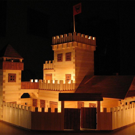 Set constructie arhitectura Castel, 607 piese din lemn, Walachia [5]