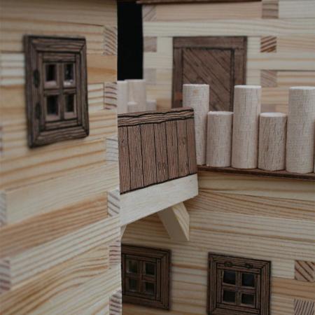 Set constructie arhitectura Castel, 607 piese din lemn, Walachia [3]