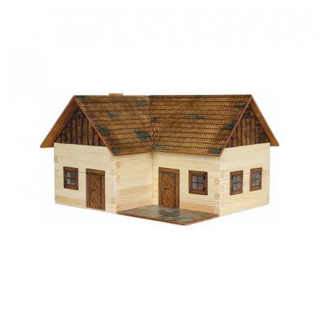 Set constructie arhitectura Casuta ideala, 154 piese din lemn, Walachia [0]