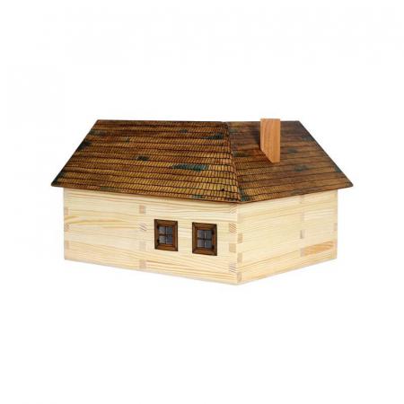 Set constructie arhitectura Casuta ideala, 154 piese din lemn, Walachia [1]