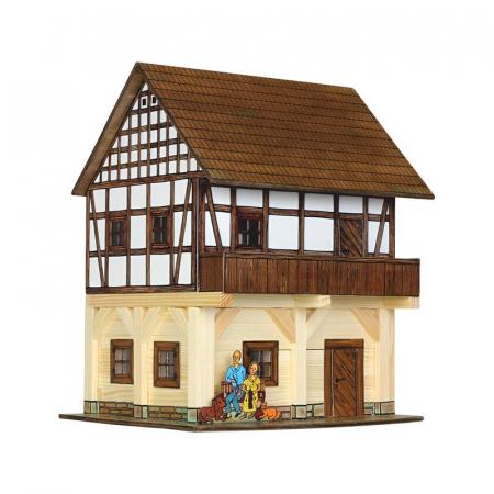 Set constructie arhitectura Granar cu grinzi, 115 piese din lemn, Walachia [0]