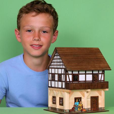 Set constructie arhitectura Granar cu grinzi, 115 piese din lemn, Walachia [3]