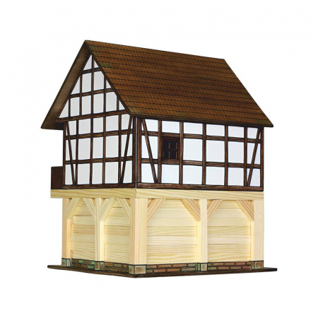 Set constructie arhitectura Granar cu grinzi, 115 piese din lemn, Walachia [1]