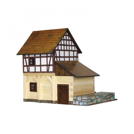 Set constructie arhitectura Moara de apa cu grinzi, 172 piese din lemn, Walachia [1]