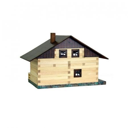 Set constructie arhitectura Pensiune alpina, 195 piese din lemn, Walachia [1]