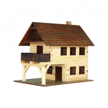 Set constructie arhitectura Primarie medievala, 194 piese din lemn, Walachia [0]