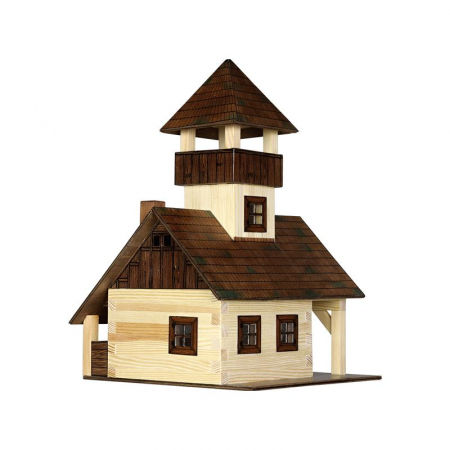 Set constructie arhitectura Refugiu montan, 135 piese din lemn, Walachia [1]