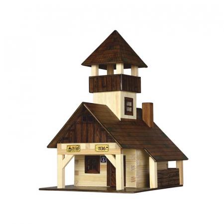 Set constructie arhitectura Refugiu montan, 135 piese din lemn, Walachia [0]