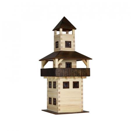 Set constructie arhitectura Turn, 276 piese din lemn, Walachia [1]