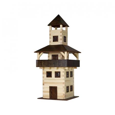 Set constructie arhitectura Turn, 276 piese din lemn, Walachia [0]