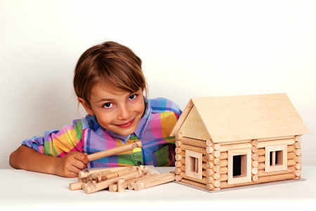 Set constructie arhitectura Vario, 72 piese din lemn, Walachia [6]