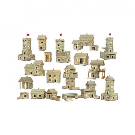 Set constructie arhitectura Vario Massive, 209 piese mari din lemn, Walachia [4]