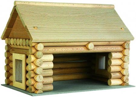 Set constructie arhitectura Vario Massive Mini, 91 piese mari din lemn, Walachia [0]