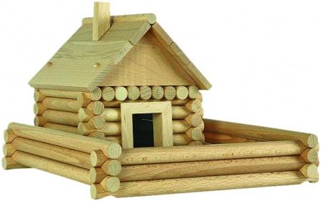 Set constructie arhitectura Vario Massive Mini, 91 piese mari din lemn, Walachia [3]