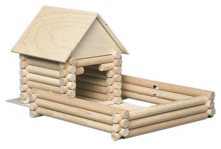 Set constructie arhitectura Vario XL, 184 piese din lemn, Walachia [3]