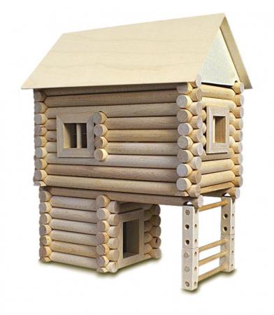 Set constructie arhitectura Vario XL, 184 piese din lemn, Walachia [2]