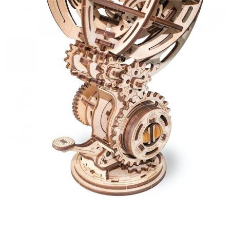 Set constructie cu mecanism Puzzle 3D KINETIC GLOBE din lemn 205 piese @ EWA [1]