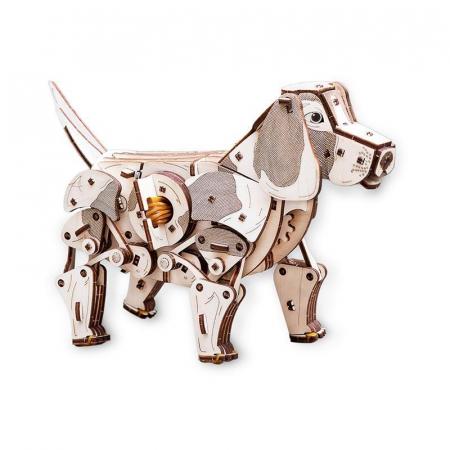 Set constructie cu mecanism Puzzle 3D PUPPY din lemn 246 piese @ EWA [1]