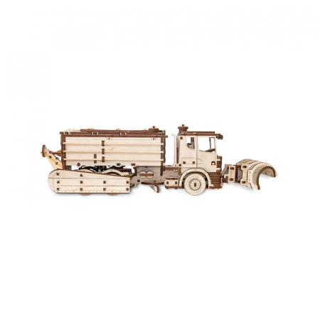 Set constructie cu mecanism Puzzle 3D SNOWTRUCK din lemn 417 piese @ EWA [0]