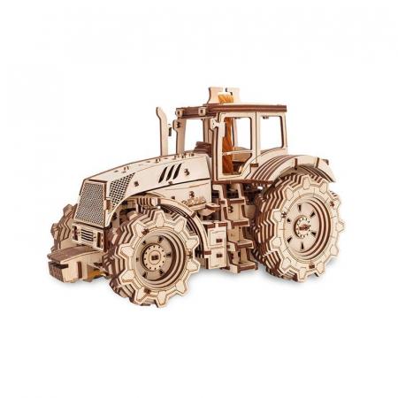 Set constructie cu mecanism Puzzle 3D TRACTOR din lemn 357 piese @ EWA [4]