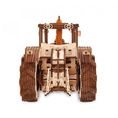 Set constructie cu mecanism Puzzle 3D TRACTOR din lemn 357 piese @ EWA [1]