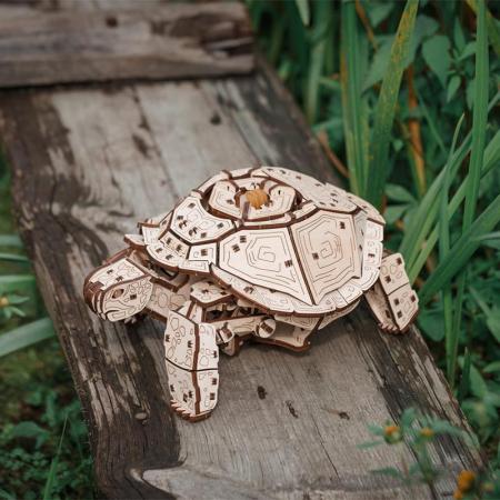 Set constructie cu mecanism Puzzle 3D TURTLE din lemn 269 piese @ EWA [1]