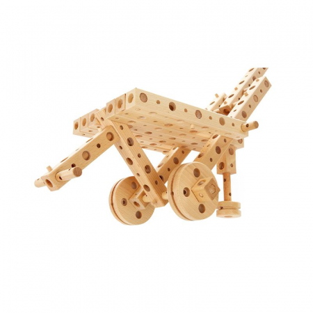 Set constructie mecanica din lemn Polytechnical Large, 300 piese, Pony [0]